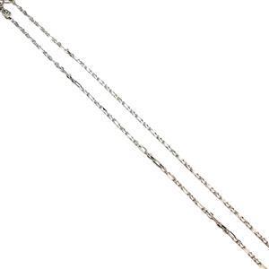 925 Sterling Silver Diamond Cut Figure Belcher Chain, 51cm/20