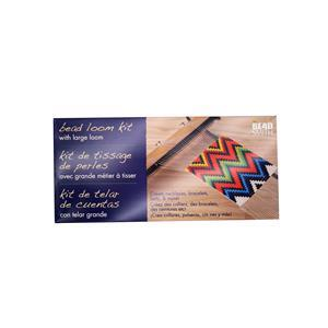 Beadsmith extra wide loom with beads, thread and pattern
