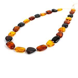 Baltic Multi Colour Amber Beads, Approx. 10-12mm (38cm Strand)