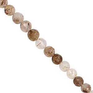 75cts Copper Rutile Faceted Rounds Approx 5.4mm to 6.6mm 30cm Strand