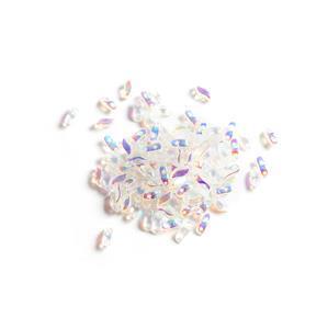 StormDuo Beads Crystal Full AB, Approx 3x7mm (100pcs)
