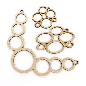 MDF Multi-Circle Pendant & Collar