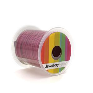 Magenta Woven Nylon Cord, 1mm, 30m Spool