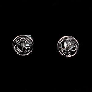 Sterling Silver Flat Round Wire Stud Earrings Approx 8mm