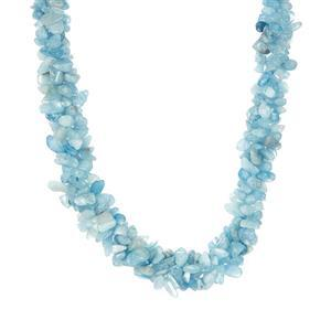 426.80ct Aquamarine Sterling Silver Necklace