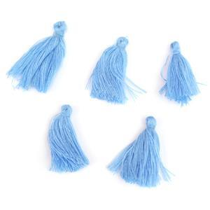 25mm Blue Tassels, 5pk