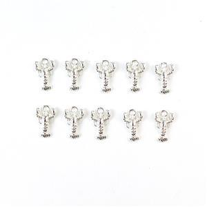Silver Plated Base Metal Lobster Charms, Approx 17x11mm (10pcs)