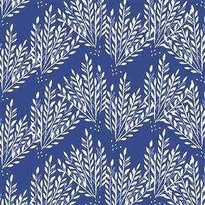 Pepino Reed Design On Blue Fabric 0.5m