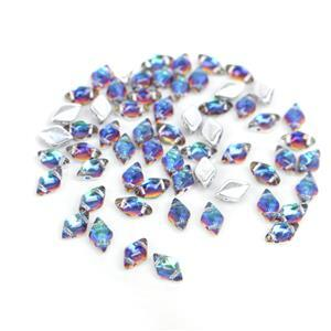 Gemduo Beads Backlit Petroleum Approx 8x5mm (8GM/TB)