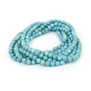 370cts Blue Howlite Plain Rounds Approx 6mm, 140cm