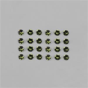 Peridot Swarovski Round Stone 1088  - 2mm, 24pk