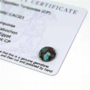 2.25cts Egyptian Turquoise 10x10mm Round  (CP)