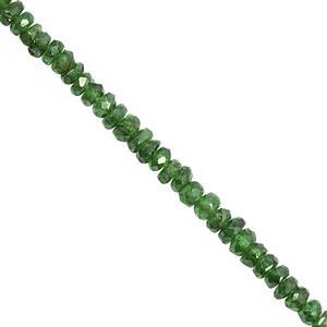 15cts Tsavorite Garnet Graduated Faceted Rondelles Approx 2x1 to 3x2mm, 20cm Strand
