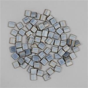 Miyuki Tila Matte Metallic Silver Grey Beads Approx  5x5mm (7.2GM/TB)