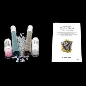 Pastel Perfect; Czech Fire Polish 4mm, Miyuki  2x 11/0 & 2x 15/0 & Trinket Box Booklet by Monika Soltesz