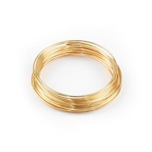 Champagne Gold Coloured Silver Plated Copper Wire - 0.8mm (6m)