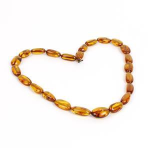 Baltic Cognac Amber Beads, Approx. 9x6mm-16x11mm (38cm Strand)