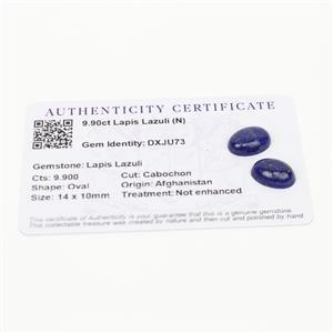 9.9cts  Sar-i-Sang Lapis Lazuli 14x10mm Oval  (N)