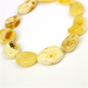Baltic Butterscotch Amber Free Form Beads Approx 20x11mm, 20cm Strand