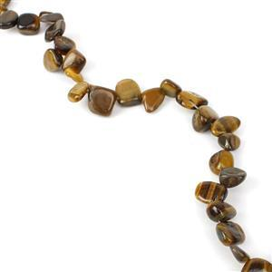 240cts Yellow Tigers Eye Fancy Nuggets Approx 8x9 - 12x16mm, 38cm Strand