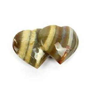 160g Min Flint Jasper Friendship Heart