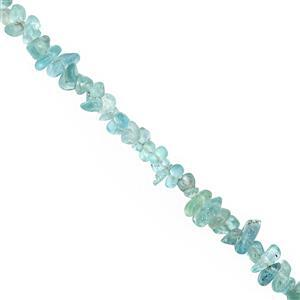 310cts Sky Apatite Bead Nugget Approx 3x2 to 9x3mm, 100inch Strand