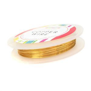 50m Gold Coloured Silver Plated Copper Wire 0.4mm