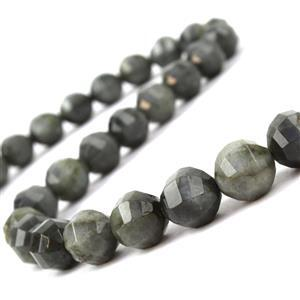 210cts Labradorite Faceted Lantern Beads Approx 9mm, 38cm Strand