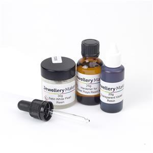 Jewellery Maker Violet Rays Resin Kit