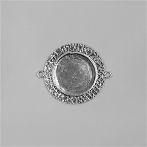 ICE Resin® Antique Silver Milan Medium Round Bezel with Closed Back Approx ID 22mm