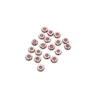 Precisoa Ornela Chalk White Pale Pink Table Cut Hawaiian Flower Beads, 14mm (20pk)