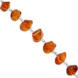 18cts Madeira Citrine Graduated Faceted Twisted Rondelles Approx 5x4 to 8x6mm, 9cm Strand with Spacers