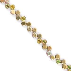 Honeycomb Beads - Topaz Gold Approx 6mm (30pcs)