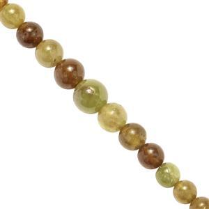 40cts Sphene Smooth Round Approx 3 to 7mm, 19cms Strand
