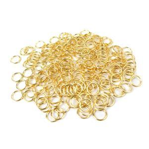 Gold Colour Plated Copper Open Jump Rings ID Approx 7mm. (Approx 200pcs)