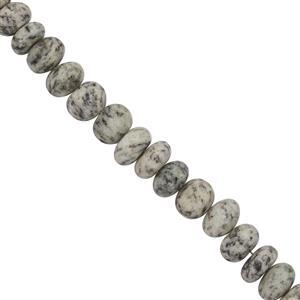 110cts K-2 Jasper Faceted Rondelles Approx 3x8 to 7x9mm, 20cm Strand