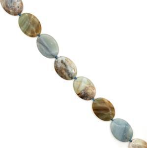 545cts Amazonite Plain Ovals Approx  30x40mm Approx 9pcs Beads Strand