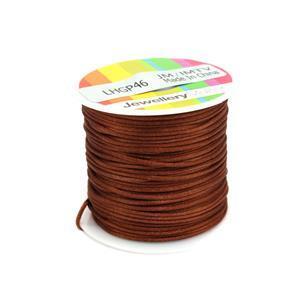 1mm Copper Satin Cord, 10m Spool
