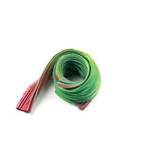 Green and Garnet Shibori Girl Ribbon 1/2 Yard