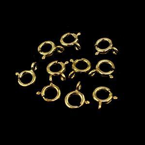 Gold Plated 925 Sterling Silver Bolt Ring Clasp - 7mm (10pcs/pk)