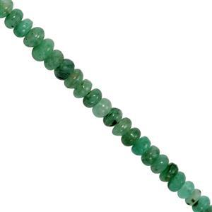15cts Zambian Emerald Graduated Smooth Rondelle Approx 2x1 to 3x2mm, 20cm Strand