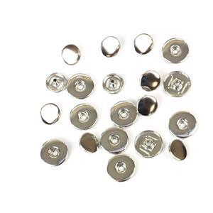 Silver Plated Snap Pack 20x24mm (10pcs)
