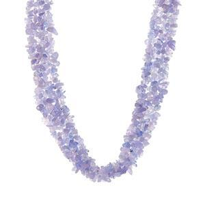 300ct Tanzanite Sterling Silver Necklace