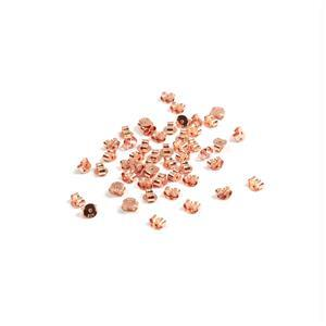 Rose Gold Plated 925 Sterling Silver Butterfly Backs Approx 5mm (50pcs)