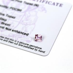 0.7cts Imperial Pink Topaz 5x5mm Octagon  (N)
