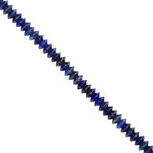 15cts Lapis Lazuli Faceted Saucer Approx 3x1.5mm, 25cm Strand