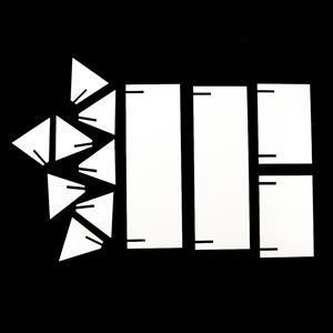 Matte White Display Stand Multi-Pack (2 x L & 2 x S)