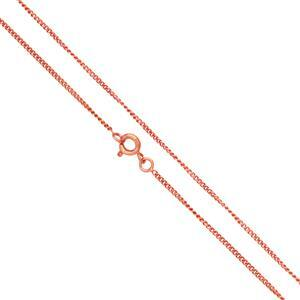 Copper Plated Brass Finished Fine Curb Chain, 18