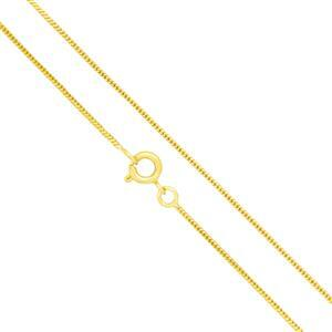 Gold Plated Base Metal Finished Snake Chain, 18