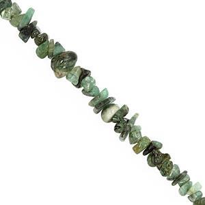 290cts Emerald Bead Nugget Approx 2x1.5 to 10x3mm, 100inch Strand
